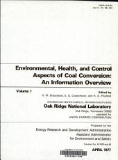 Environmental  Health  and Control Aspects of Coal Conversion PDF