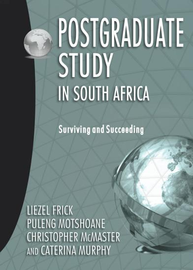 Postgraduate Study in South Africa PDF
