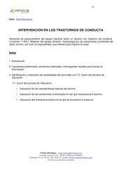 INTERVENCIÓN EN LOS TRASTORNOS DE CONDUCTA