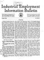 Industrial Employment Information Bulletin PDF