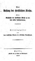 Der Anfang des christlichen Kirche PDF
