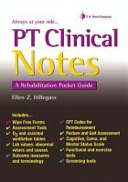 PT Clinical Notes PDF