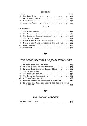The black arrow  The misadventures of John Nicholson  The body snatcher PDF