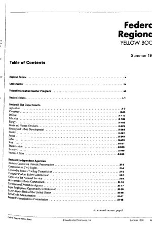 Federal Regional Yellow Book