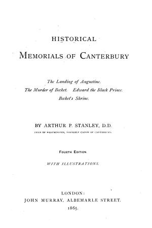 Historical memorials of Canterbury PDF