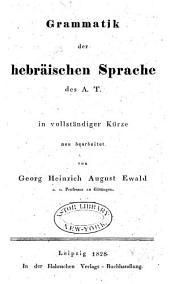 Grammatik der hebräischen Sprache des A. T.