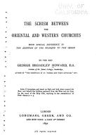 The Schism Between the Oriental and Western Churches PDF