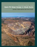 Guidelines for Open Pit Slope Design in Weak Rocks PDF