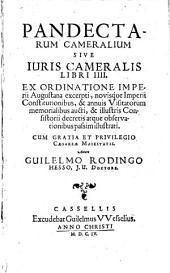 Pandectarum Cameralium sive Iuris cameralis libri quatuor