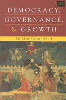Democracy  Governance  and Growth PDF