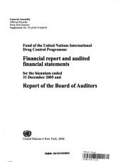 Audited Financial Statements for the Biennium Ended 31 Dec 2005 and Report of the Board of Auditors
