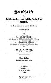 Zeitschrift für Philosophie und philosophische Kritik: Band 41