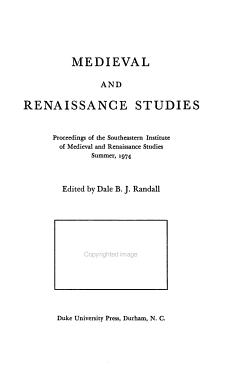 Medieval and Renaissance Series PDF
