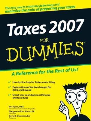 Taxes 2007 For Dummies PDF