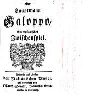 Der Hauptmann Galoppo: ein musicalisches Zwischenspiel