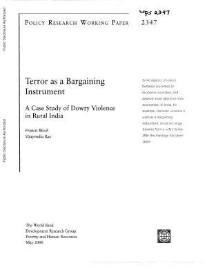 Terror as a Bargaining Instrument