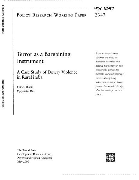 Terror As A Bargaining Instrument
