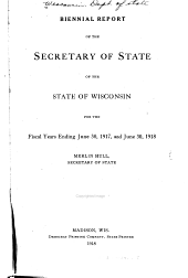 Biennial Reports of the Secretary of State ...
