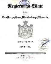 Regierungsblatt für Mecklenburg-Schwerin: 1850