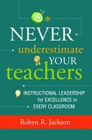 Never Underestimate Your Teachers PDF