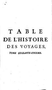Histoire générale des voyages: Volume61