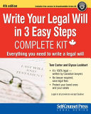 Write Your Legal Will in 3 Easy Steps   CAN