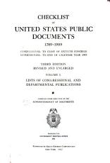 Checklist of United States Public Documents 1789 1909  Congressional PDF