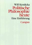 Politische Philosophie heute PDF
