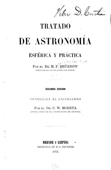 Tratado de astronomia esf  rica y pr  ctica PDF