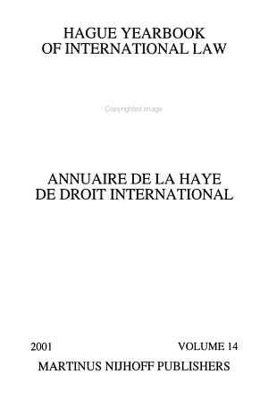 Hague Yearbook of International Law PDF