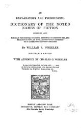 An Explanatory and Pronouncing Dictionary of the Noted Names of Fiction PDF