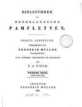 Bibliotheek van Nederlandsche pamfletten verzameling van F. Muller
