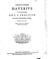 Carolus Joseph Daverius Taurinensis ad s.f. prolysin in Regio Scientiarum Lycæo anno 1793. die 5. aprilis hora 9. matutina: Issue 4