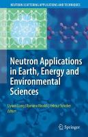 Neutron Applications in Earth  Energy and Environmental Sciences PDF