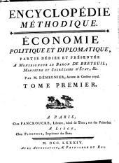 Encyclopédie méthodique: Économie politique et diplomatique, Volume1,Partie1