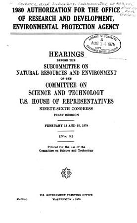 1980 Authorization for the Office of Research and Development  Environmental Protection Agency PDF