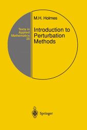 Introduction to Perturbation Methods