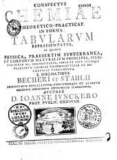 Conspectus chemiae theoretico-practicae in forma tabularum representatus