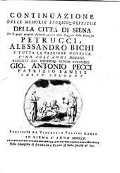 Memorie storico-critiche della città di Siena: Volume 2