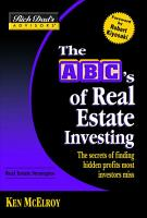 Rich Dad s Advisors    The ABC s of Real Estate Investing PDF