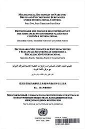 Diccionario Multilingüe de Los Estupefacientes Y Sustancias Sicotrópicas Sometidos a Fiscalización Internacional