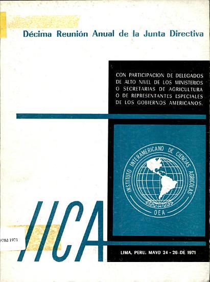 Informe Decima Reunion Anual de la Junta Directiva PDF