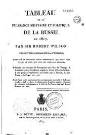 Tableau de la puissance politique et militaire de la Russie en 1817