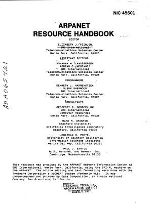 Arpanet Resources Handbook PDF