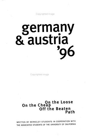 Germany and Austria 1996
