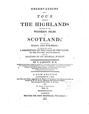 Observations on a Tour Through the Highlands and Part of the Western Isles of Scotland