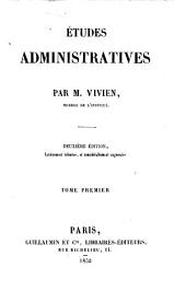 Études administratives: Volume1