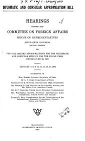 Diplomatic and Consular Appropriation Bill. [1921]: Hearings..., Jan. 7-15, 1920...