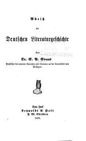 Abriss der deutschen literaturgeschichte