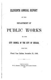 Annual Report of the Department of Public Works